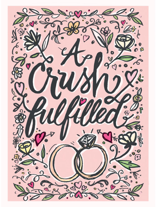 A crush fulfilled lettering art