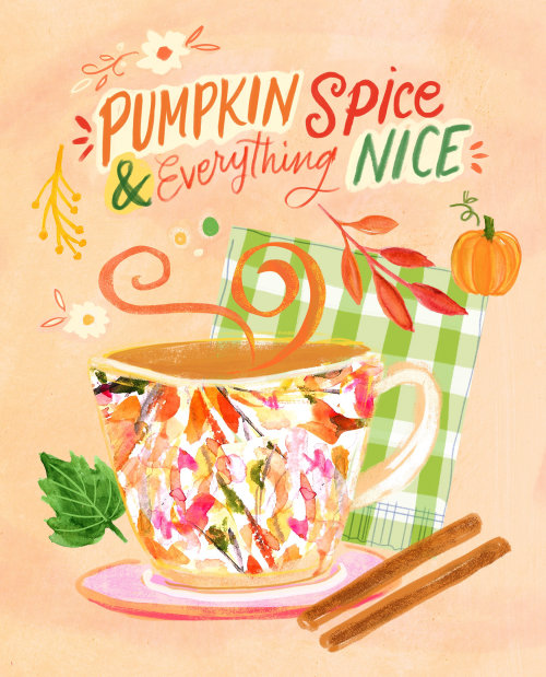 Lettering art of pumpkin spice everything nice