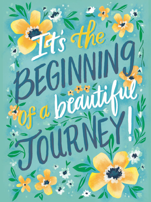 It's beginning of beautiful journey hand lettering