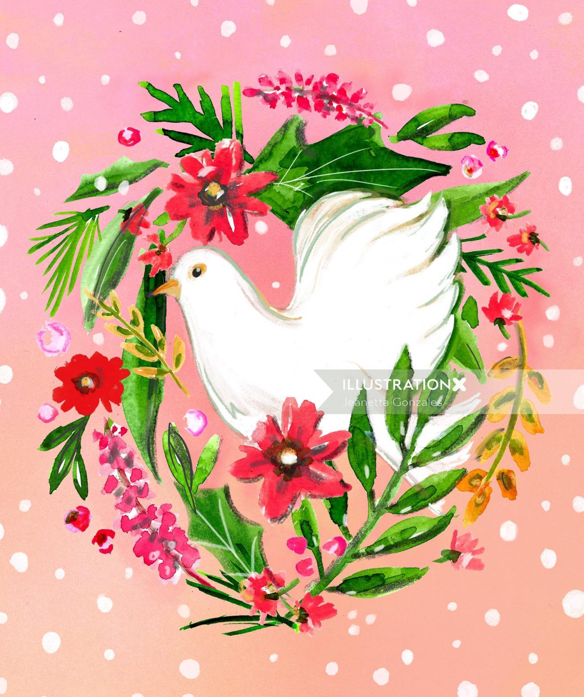 Digital painting of pigeon