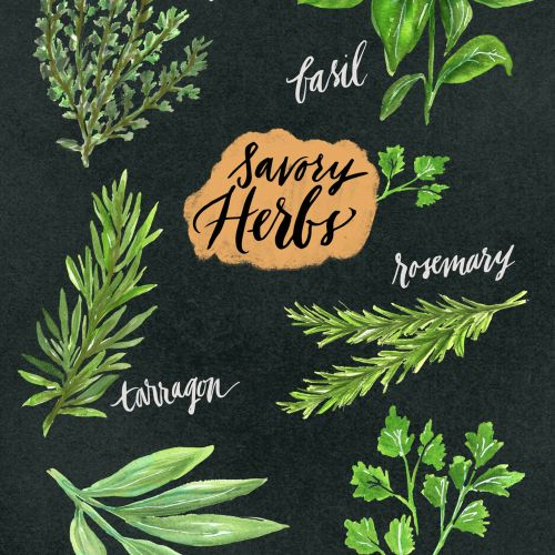 Lettering art of savory hearts