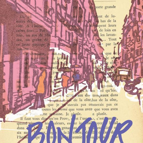 Typography art of bonjour