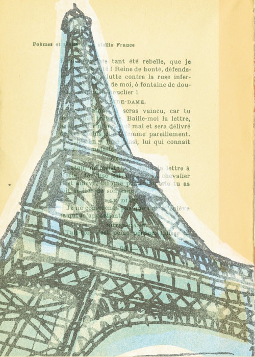 Editorial art of Eiffel tower