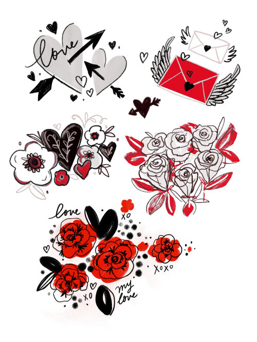 Decorative illustration of love