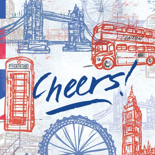 Hand lettering art of cheers