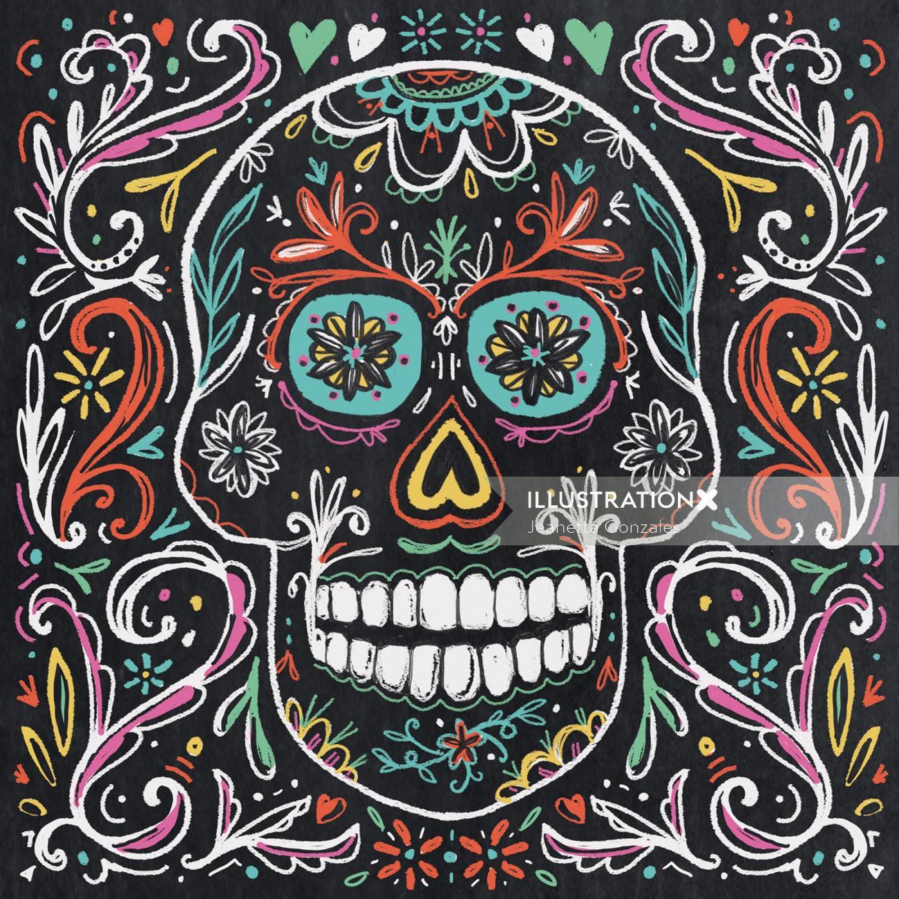 Conceptual illustration of skull