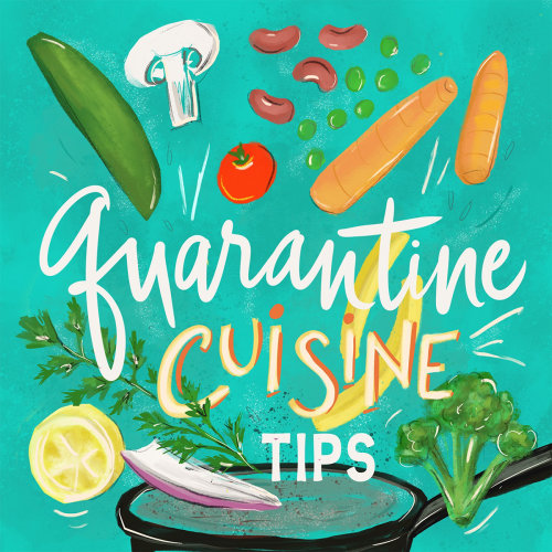 Typography art of quarantine cuisine tips