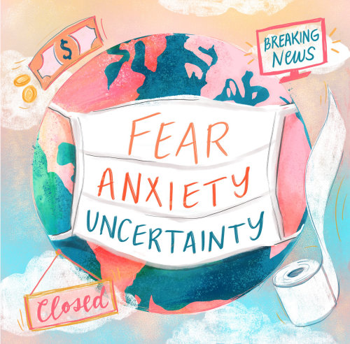 Graphic Fear Anxiety uncertainty