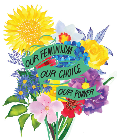 Flower Bouquet Painting For Feminism Special Issue