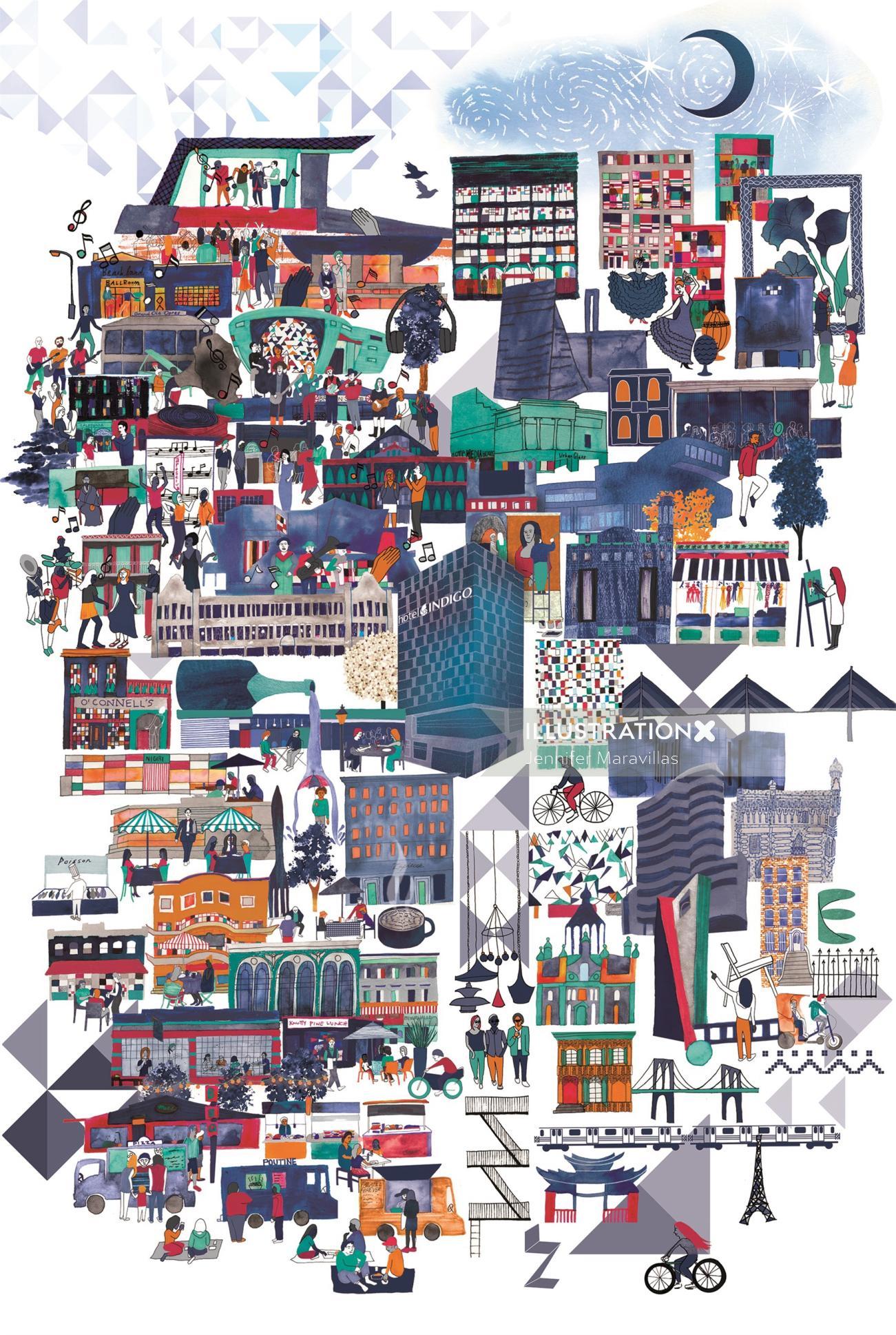 Branding Poster Design For Hotel Indigo