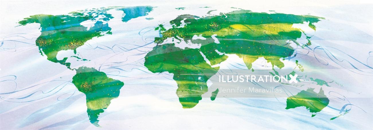 IBM Users world map