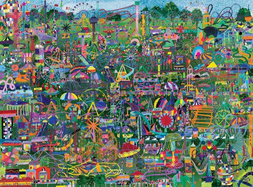 Parcs d'attractions, illustration, puzzle