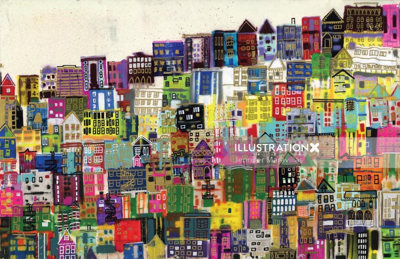 City illustration by Jennifer Maravillas