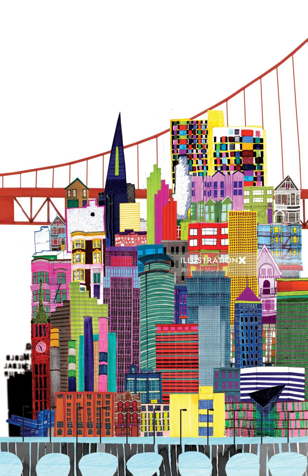 Building illustrations by Jennifer Maravillas