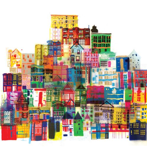 Buildings Hand Drawn By New York Based Illustrator
