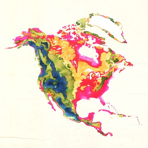 Illustrated Map of North America