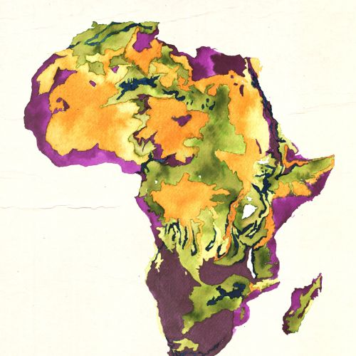 Hand Drawn Map of Africa