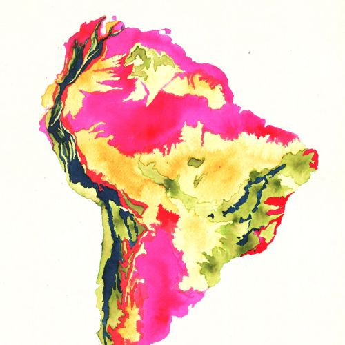 An illustration of Africa map