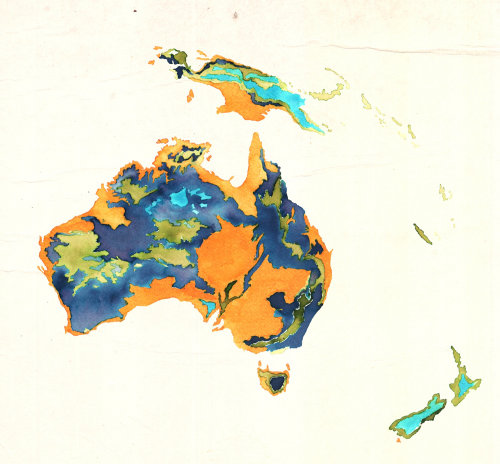 An illustration of Australia map