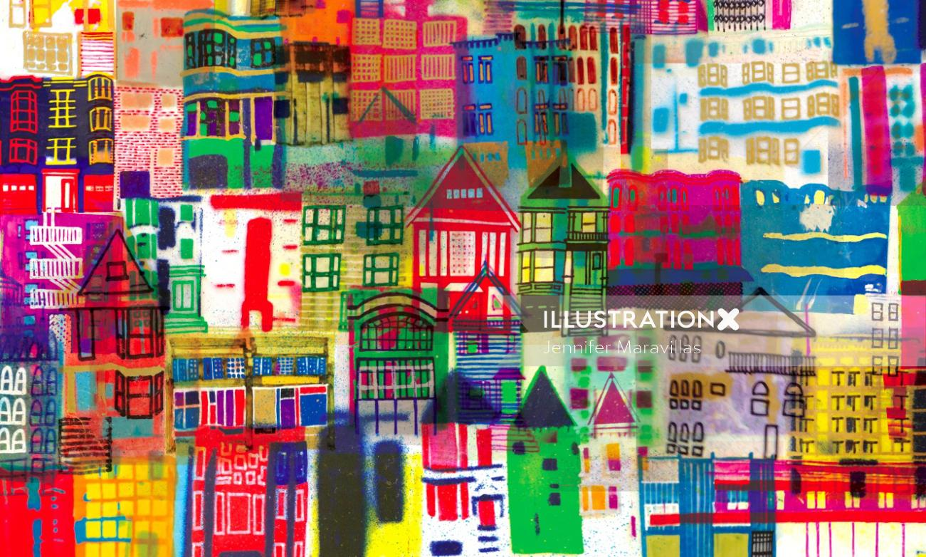 Buildings illustration by Jennifer Maravillas