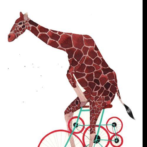 Giraffe illustration by Jennifer Maravillas