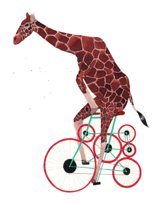 Giraffe illustration by Jennifer Maravillas