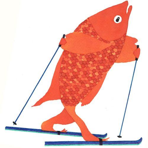 An illustration of skating fish
