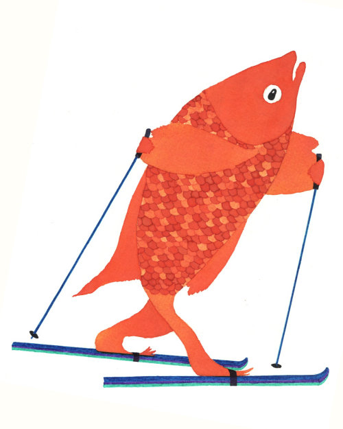 An illustration of skating fish