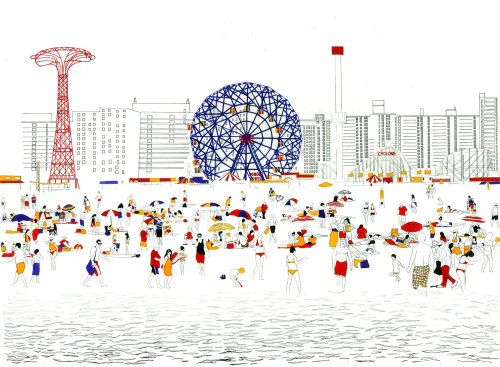Coney Island illustration by Jennifer Maravillas