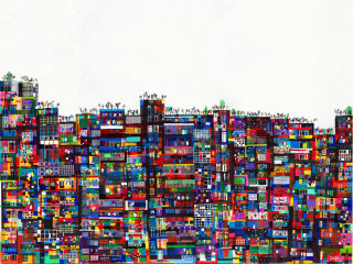 Kowloon Walled City Scenery Art