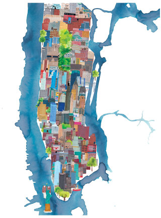 An illustration of New York cityscape