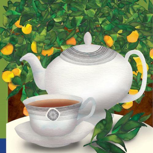 Tea cup and pot illustration by Jennifer Maravillas