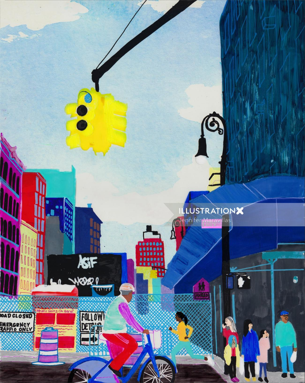 An illustration of street