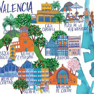 An illustration of Valencia city