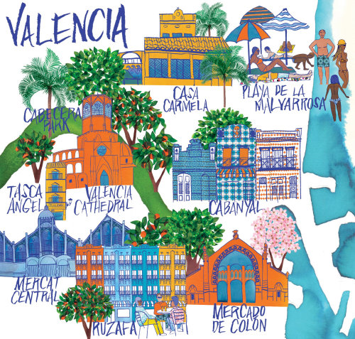 An illustration of Valencia city