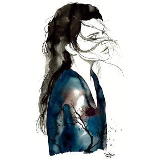 Sad Girl fashion illustration by Jessica durrant