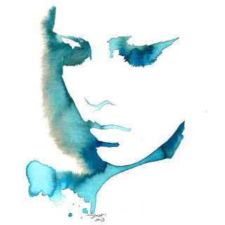 Painting of Blue Girl