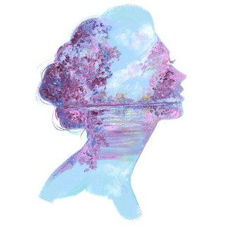 Lilac Dreams gouache