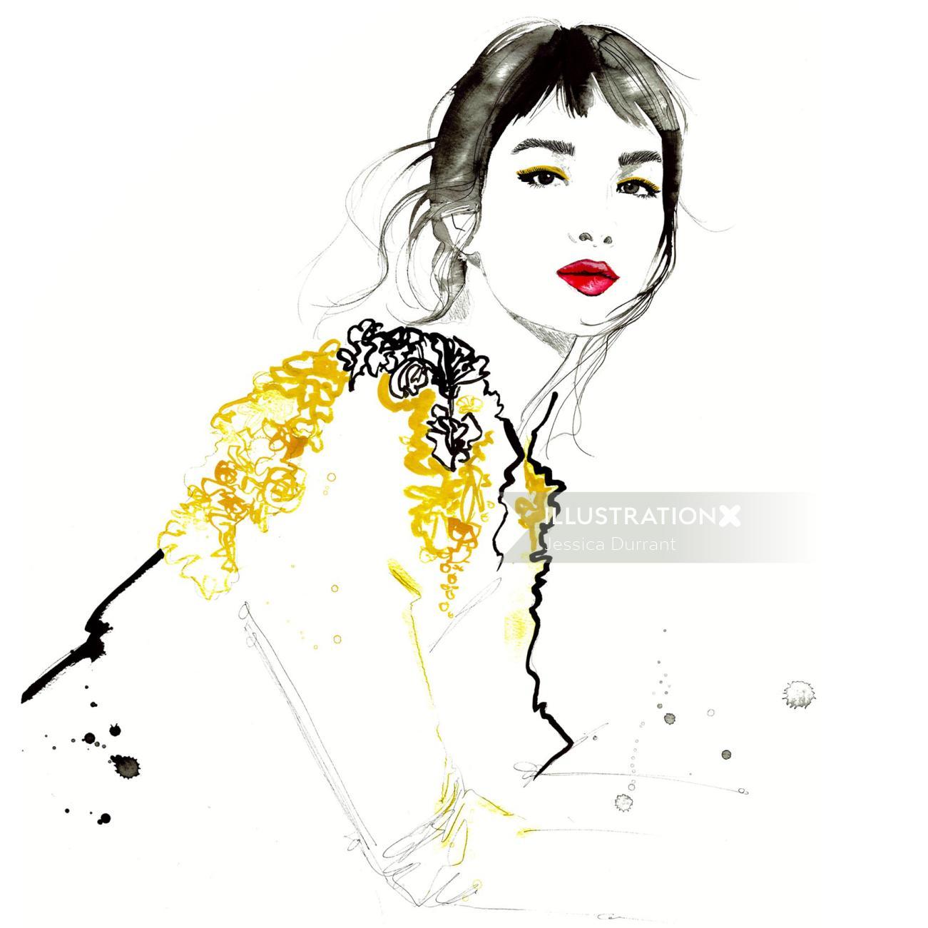 Fashion Girl line artwork