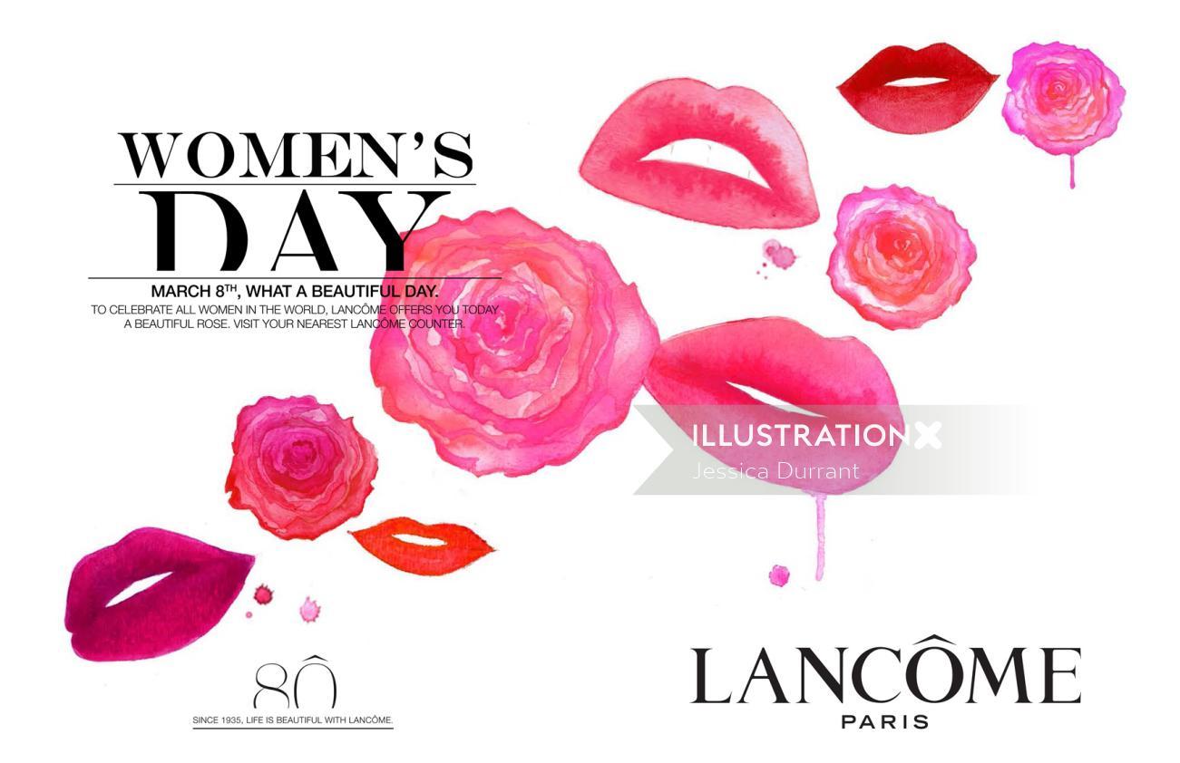 Lips illustration for women's day