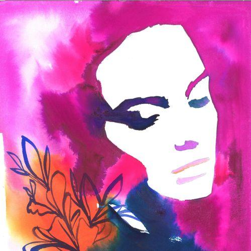 watercolor Aura of a woman