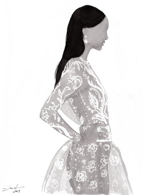 ilustração de moda da mulher