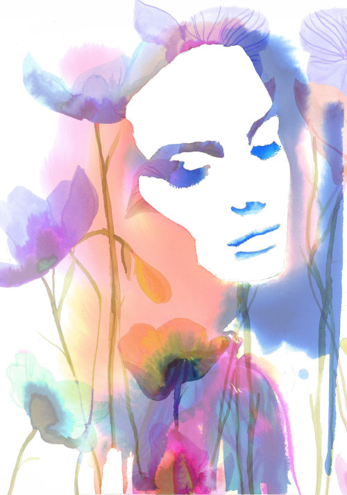 Aura of You watercolour of woman