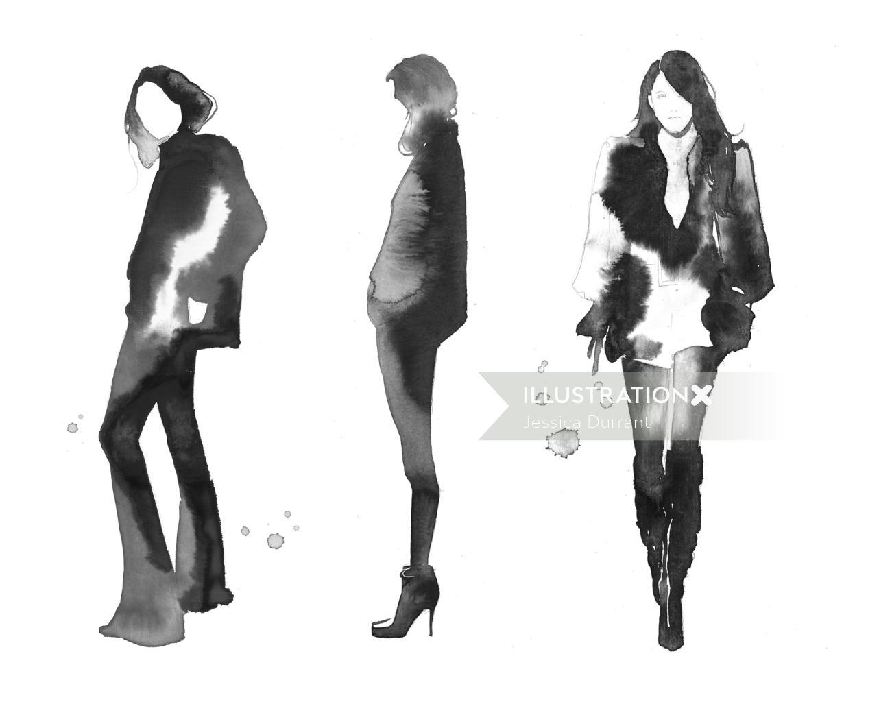 Women in Stylistic Winter dressing