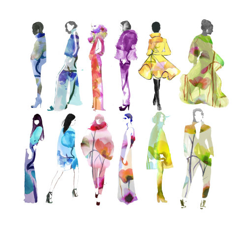 water color Fashion Prisma women