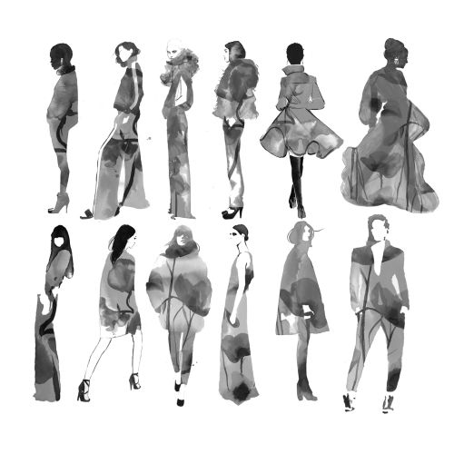 Poses of stylistic every fashion woman