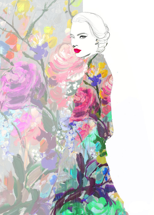 Beauty fading into the florals