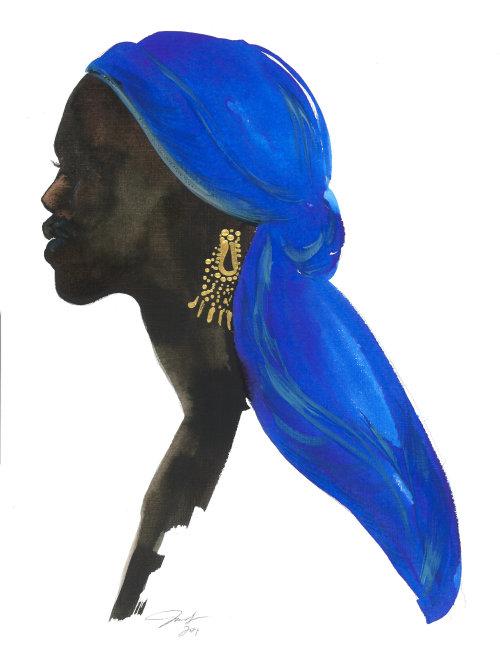 Wrap bleu