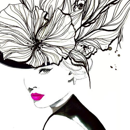 Jessica Durrant 时尚和美容插画家,佐治亚州亚特兰大