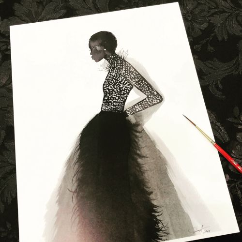 Jessica Durrant Live Event Drawing Fashion